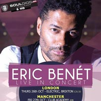 Eric Benet at Electric Brixton on Thursday 26th October 2017