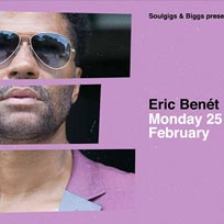 Eric Benét  at Jazz Cafe on Monday 25th February 2019