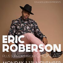 Eric Roberson at Hideaway on Monday 11th November 2019