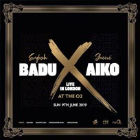 Badu X Aiko at The o2 on Sunday 9th June 2019