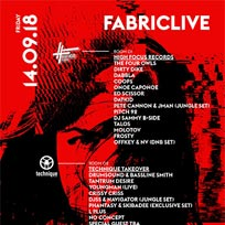 Fabriclive at Fabric on Friday 14th September 2018