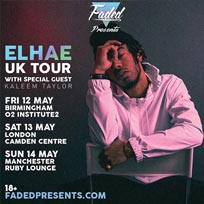 Elhae UK Tour at Camden Centre on Saturday 13th May 2017
