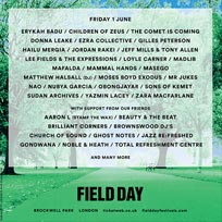 Field Day (Friday) at Brockwell Park on Friday 1st June 2018