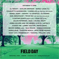 Field Day (Saturday) at Brockwell Park on Saturday 2nd June 2018