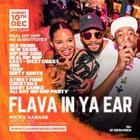 Flava in ya Ear at Mick's Garage on Sunday 10th December 2017