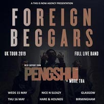 Foreign Beggars at Hoxton Square Bar & Kitchen on Thursday 30th May 2019