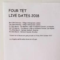 Four Tet at Village Underground on Monday 19th February 2018