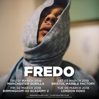 Fredo at SJM Concerts on Tuesday 6th March 2018