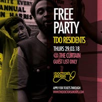 Free TDO Party at The Curtain on Thursday 29th March 2018