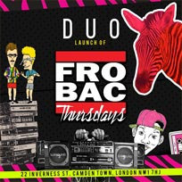 Frobac Thursdays at UnderSolo on Thursday 23rd August 2018