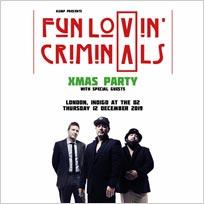 Fun Lovin Criminals Xmas Party at Indigo2 on Thursday 12th December 2019