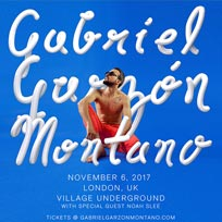 Gabriel Garzón-Montano at Village Underground on Monday 6th November 2017