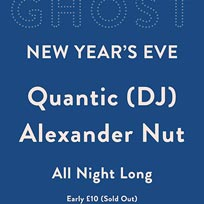 NYE: Quantic & Alexander Nut at Ghost Notes on Sunday 31st December 2017