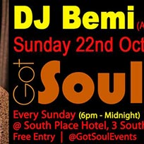 Got Soul at South Place Hotel on Sunday 22nd October 2017