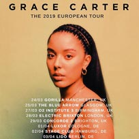 Grace Carter at Electric Brixton on Thursday 28th March 2019