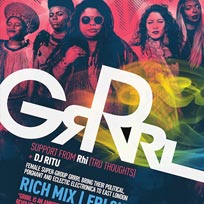 GRRRL at Rich Mix on Friday 2nd November 2018