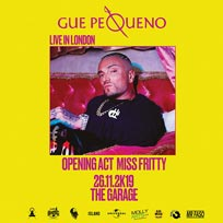 Gué Pequeno at The Garage on Tuesday 26th November 2019