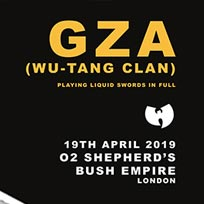 Gza at Shepherd's Bush Empire on Thursday 11th April 2019