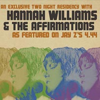 Hannah Williams & The Affirmations  at Archspace on Tuesday 7th November 2017