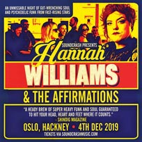 Hannah Williams & The Affirmations  at Oslo Hackney on Wednesday 4th December 2019