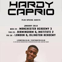 Hardy Caprio at Islington Academy on Saturday 6th January 2018