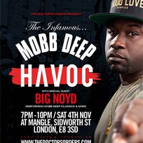 Havoc + Big Noyd at The Laundry Building on Saturday 4th November 2017