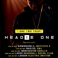 Headie One at Electric Brixton on Tuesday 6th November 2018