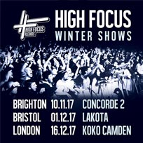 High Focus Records Winter Show at KOKO on Saturday 16th December 2017