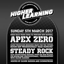Higher Learning at The Birds Nest on Sunday 5th March 2017