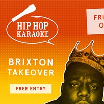 Hip Hop Karaoke at Pop Brixton on Friday 27th October 2017