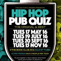 Hip Hop Pub Quiz at Book Club on Tuesday 15th November 2016