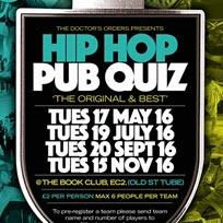 Hip Hop Pub Quiz at Book Club on Tuesday 20th September 2016