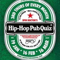Hip Hop Pub Quiz at Book Club on Thursday 16th March 2017