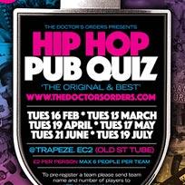 Hip Hop Pub Quiz at Book Club on Tuesday 17th May 2016