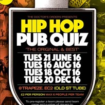 Hip Hop Pub Quiz at Trapeze on Tuesday 18th October 2016