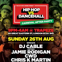 Hip-Hop vs Dancehall at Trapeze on Sunday 26th August 2018