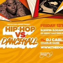 Hip-Hop vs Dancehall at Trapeze on Friday 13th September 2019
