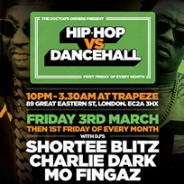 Hip Hop vs Dancehall at Trapeze on Friday 3rd March 2017