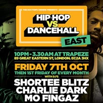 Hip Hop vs Dancehall East at Trapeze on Friday 7th October 2016