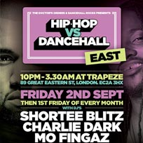 Hip Hop vs Dancehall East at Trapeze on Friday 2nd September 2016