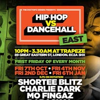Hip Hop vs Dancehall East at Trapeze on Friday 4th November 2016