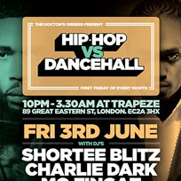 Hip Hop vs Dancehall at Trapeze on Friday 3rd June 2016