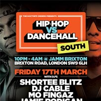 Hip Hop vs Dancehall South at Brixton Jamm on Friday 17th March 2017