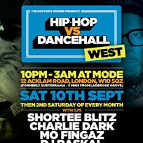 Hip Hop vs Dancehall West at Mode on Saturday 10th September 2016