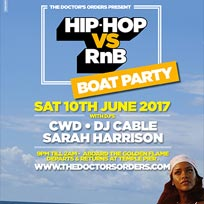 Hip Hop vs RnB Boat Party at Temple Pier on Saturday 10th June 2017