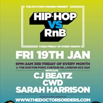 Hip Hop vs RnB at The Hoxton Pony on Friday 19th January 2018