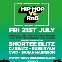 Hip Hop vs RnB  at The Hoxton Pony on Friday 21st July 2017