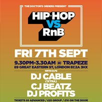 Hip Hop vs RnB at Trapeze on Friday 7th September 2018