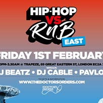 Hip Hop vs RnB at Trapeze on Friday 1st February 2019