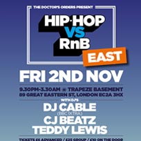 Hip Hop vs RnB at Trapeze on Friday 2nd November 2018